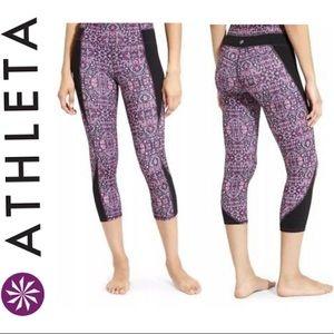 Athleta high rise purple drama workout leggings